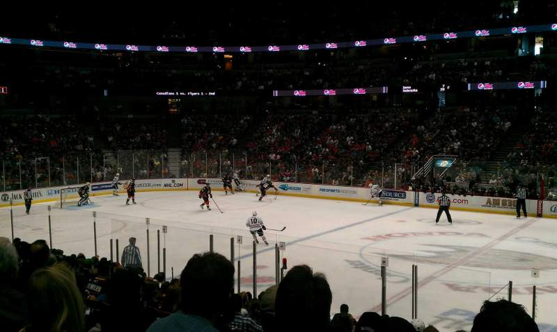 Seating view for Honda Center Section 221 Row Q Seat 10
