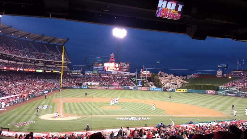 Seating view for Angel Stadium Section T221 Row H Seat 9