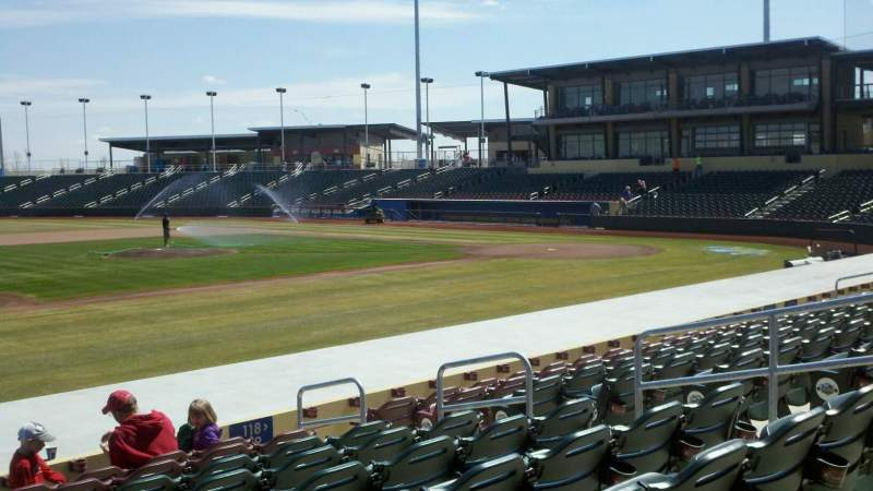 Seating view for Werner Park Section 119 Row 14 Seat 9
