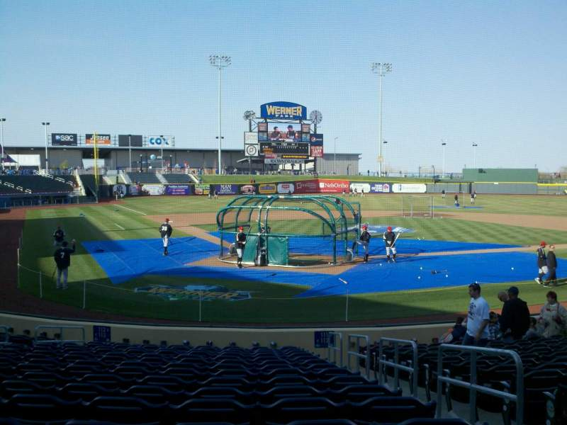 Seating view for Werner Park Section 112 Row 14 Seat 3