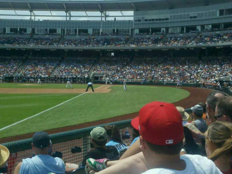 Seating view for Td Ameritrade Park Section 122 Row 6 Seat 19
