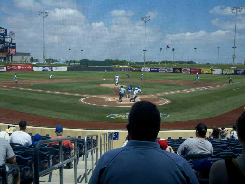 Seating view for Werner Park Section 113 Row 15 Seat 15