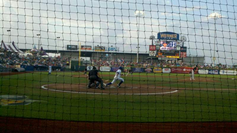 Seating view for Werner Park Section 111 Row 2 Seat 4