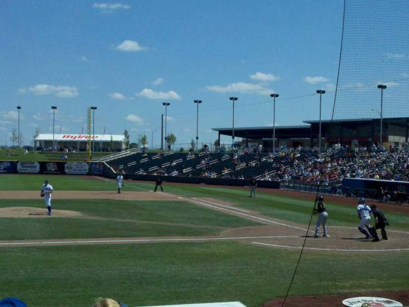 Seating view for Werner Park Section 117 Row 13 Seat 6