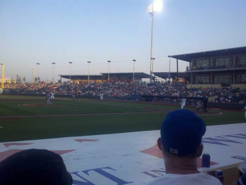Seating view for Werner Park Section 118 Row 8 Seat 9