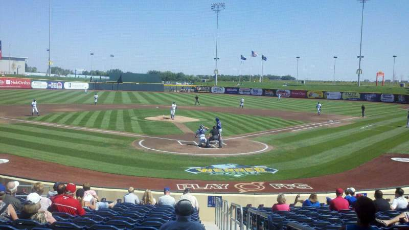 Seating view for Werner Park Section 114 Row 18 Seat 1