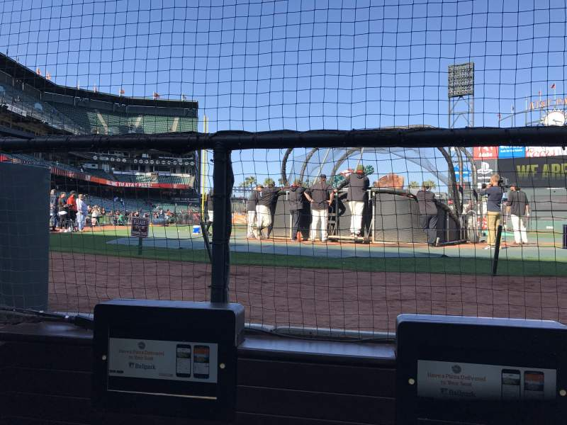 Seating view for Oracle Park Section 113 Row CCC Seat 1