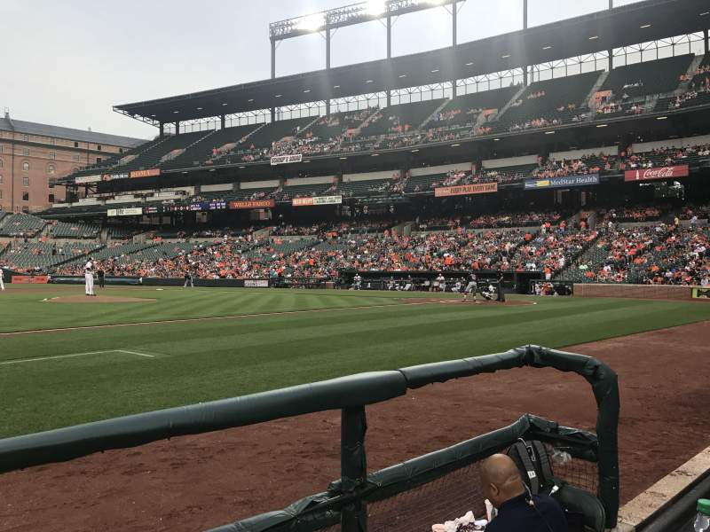 Seating view for Oriole Park at Camden Yards Section 54 Row 1 Seat 5