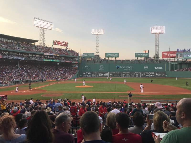 Seating view for Fenway Park Section Loge Box 116 Row KK Seat 3