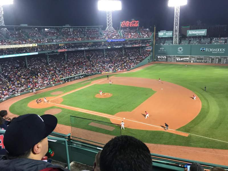 Seating view for Fenway Park Section Pavilion Box 11 Row 4 Seat 22