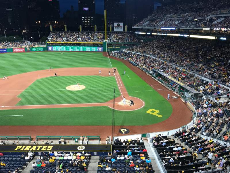 Seating view for PNC Park Section 221 Row A Seat 5