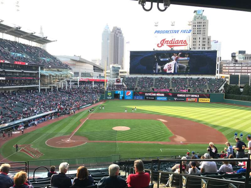 Seating view for Progressive Field Section 348 Row R Seat 1