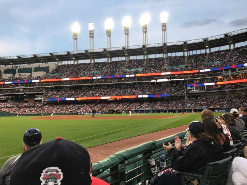Seating view for Progressive Field Section 172 Row B Seat 1