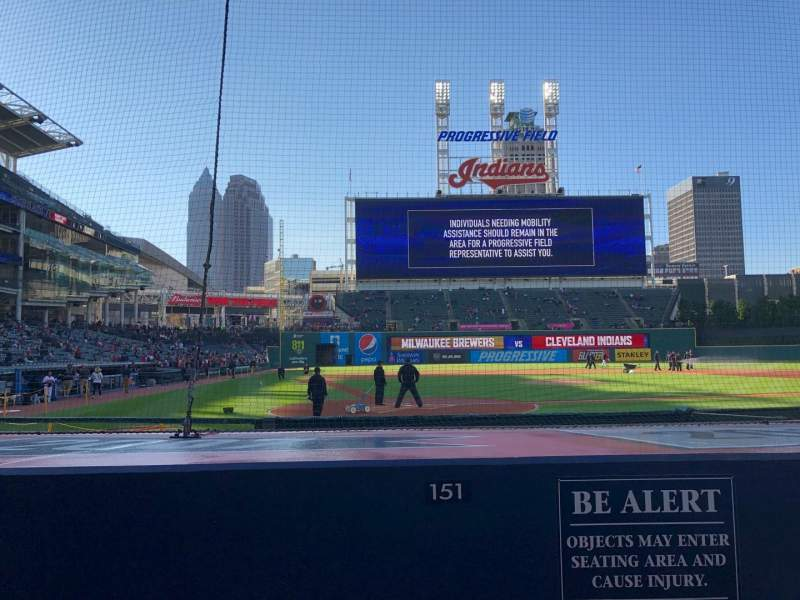 Seating view for Progressive Field Section 151 Row G Seat 3