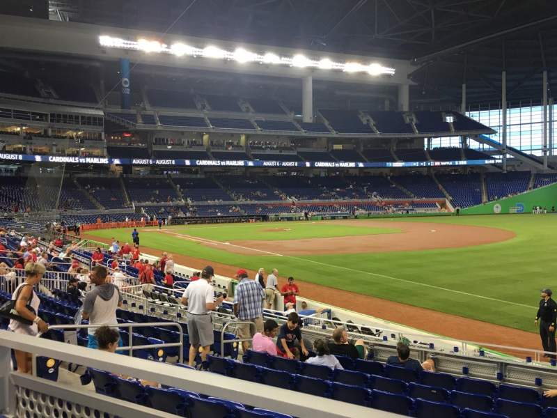 Marlins Park, section: 4, row: 1, seat: 7
