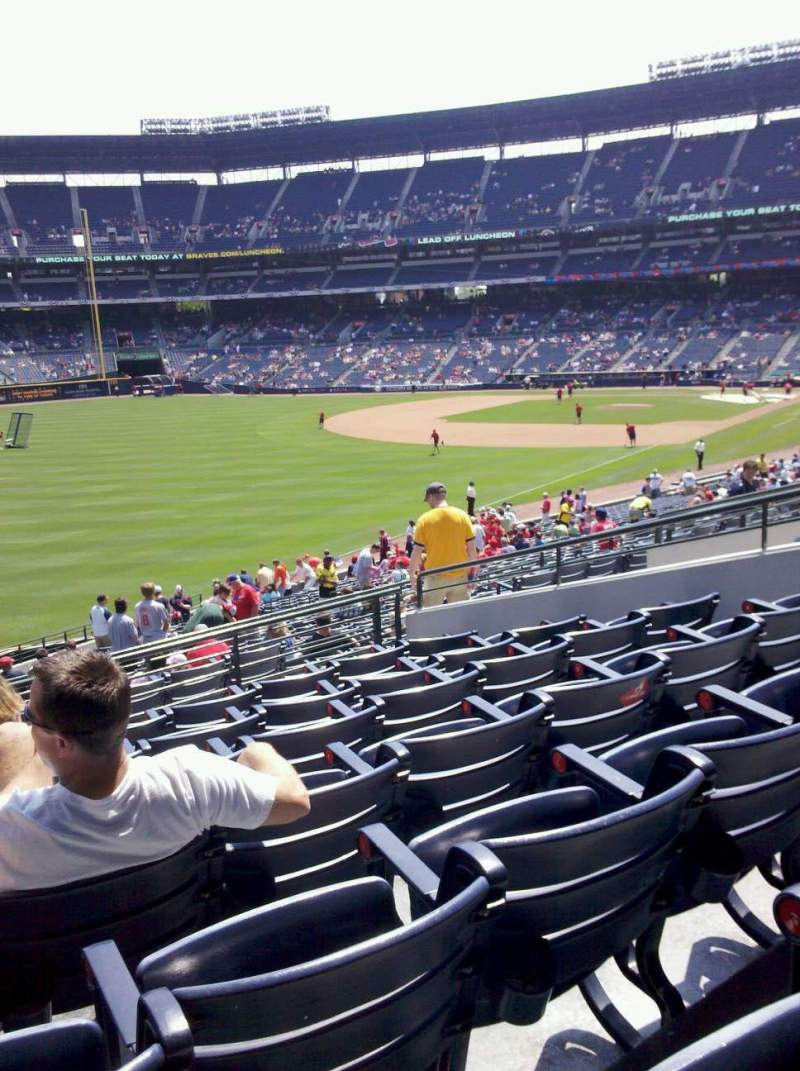 Seating view for Turner Field Section 228 Row 8 Seat 1