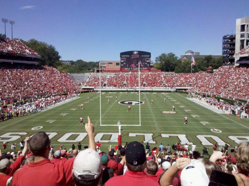 Seating view for Sanford Stadium Section 119