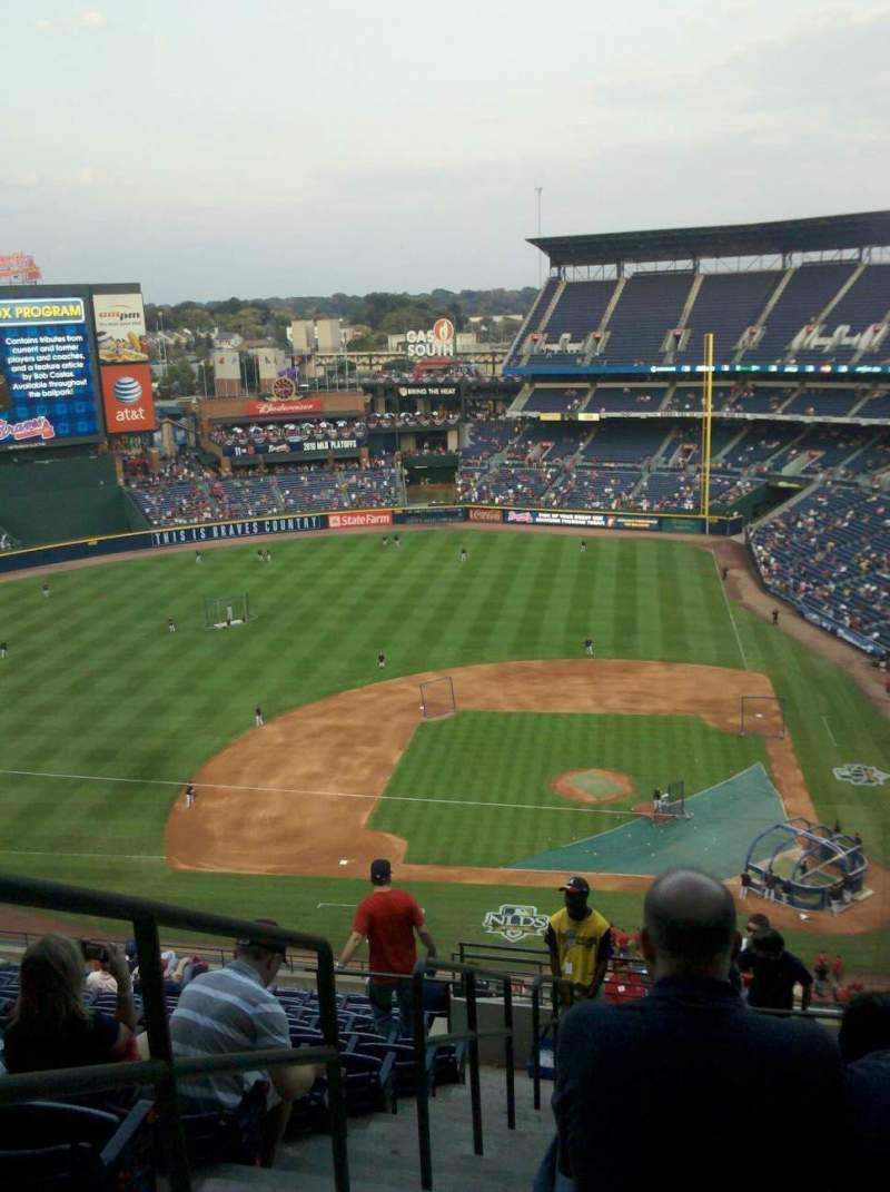 Seating view for Turner Field