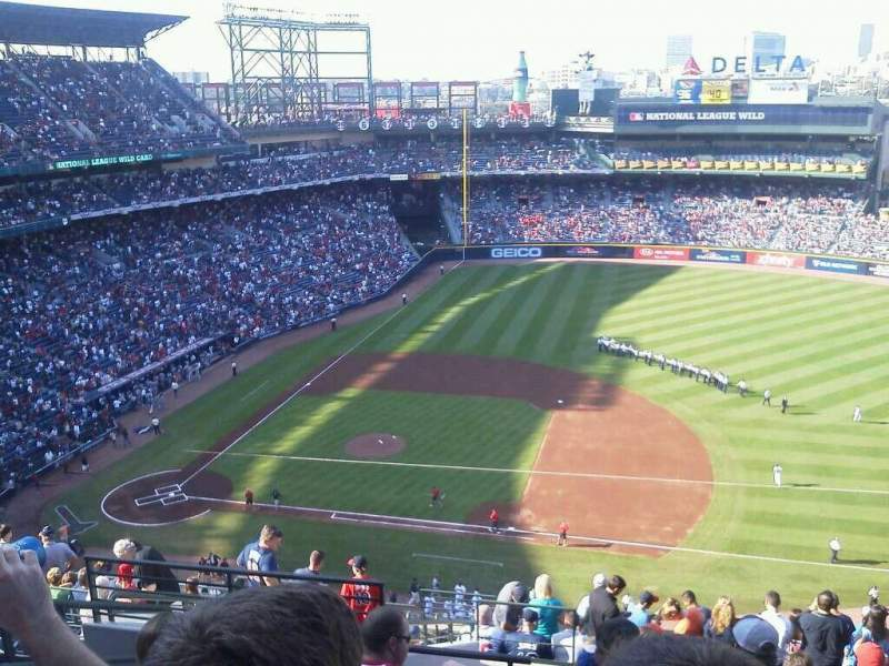 Seating view for Turner Field Section 413 Row 15 Seat 4