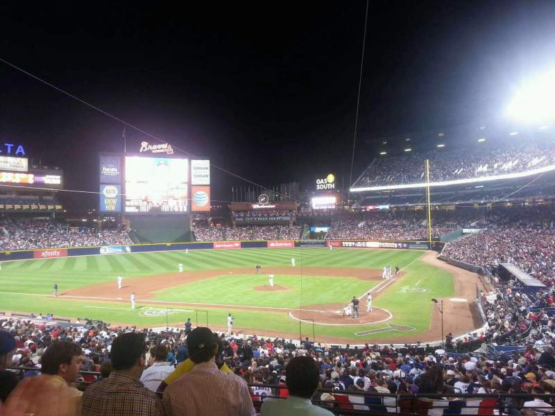 Seating view for Turner Field Section 204 Row 4 Seat 107
