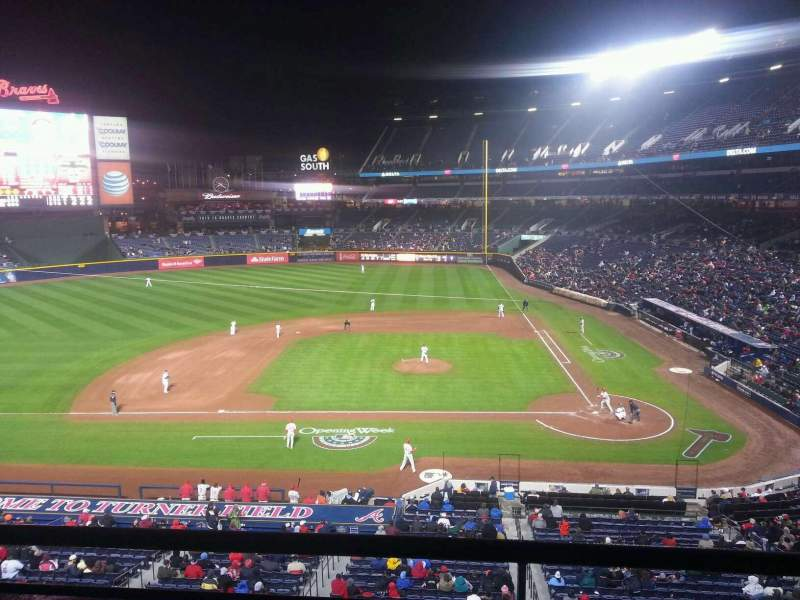 Seating view for Turner Field Section 310 Row 2 Seat 4