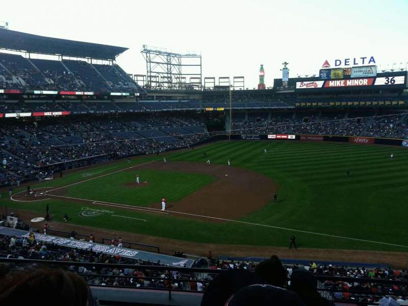 Seating view for Turner Field Section 317 Row 4 Seat 106