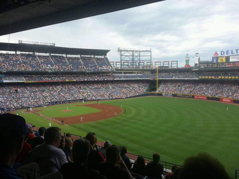 Seating view for Turner Field Section 325L Row 9 Seat 104