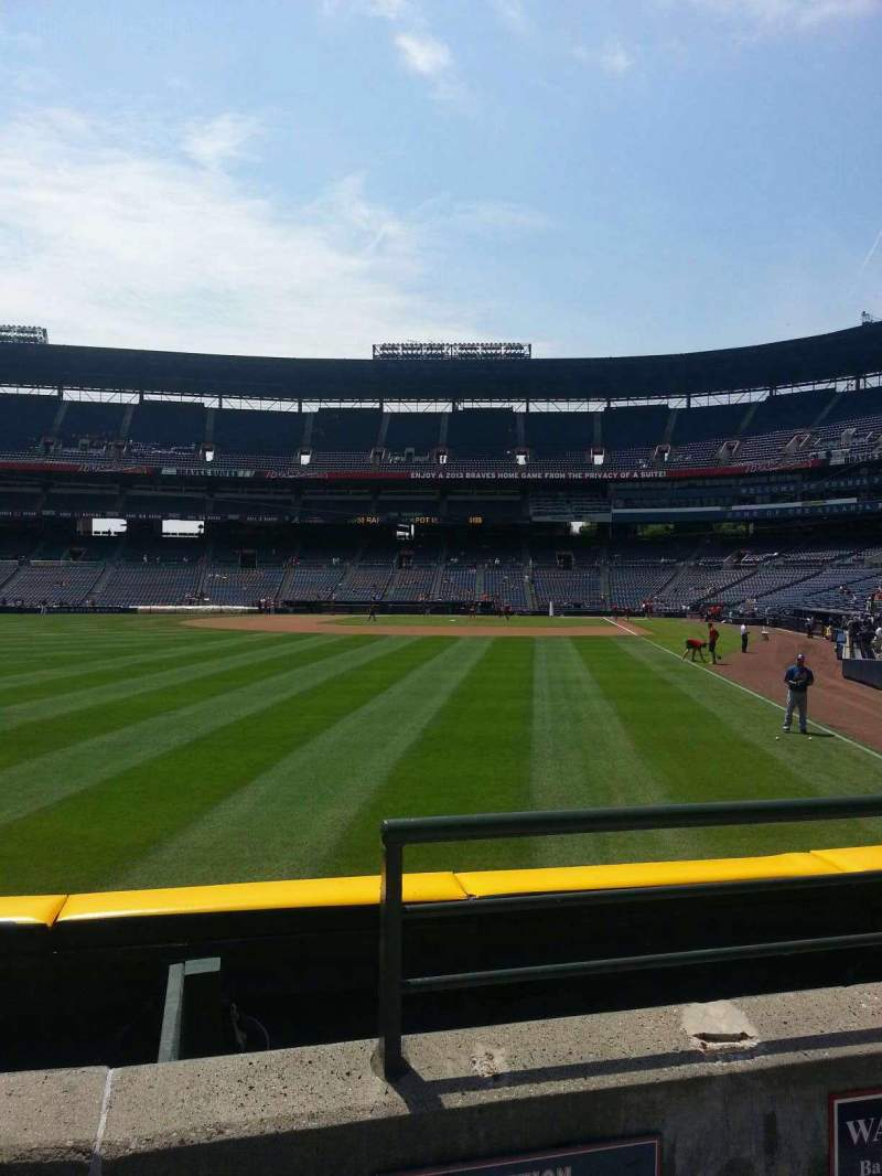 Seating view for Turner Field Section 134L Row 14 Seat 101