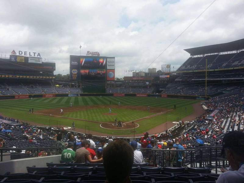 Seating view for Turner Field Section 202 Row 10 Seat 103