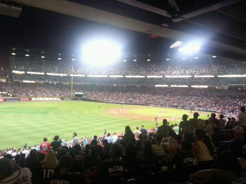 Seating view for Turner Field Section 226L Row 14 Seat 110