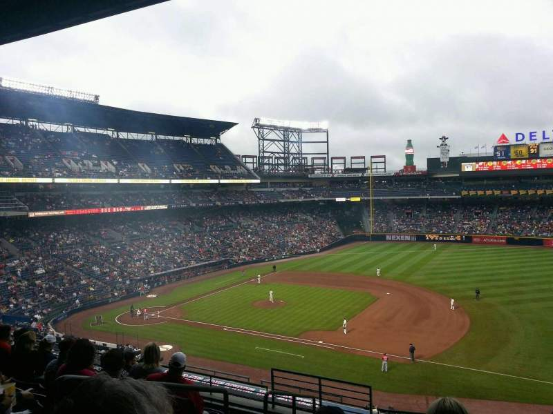 Seating view for Turner Field Section 315R Row 8 Seat 1