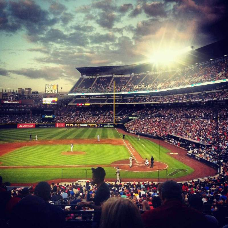 Seating view for Turner Field Section 208 Row 5 Seat 107