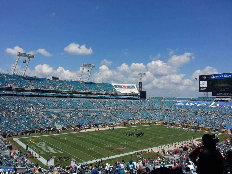 Seating view for EverBank Field Section 243 Row EE Seat 10