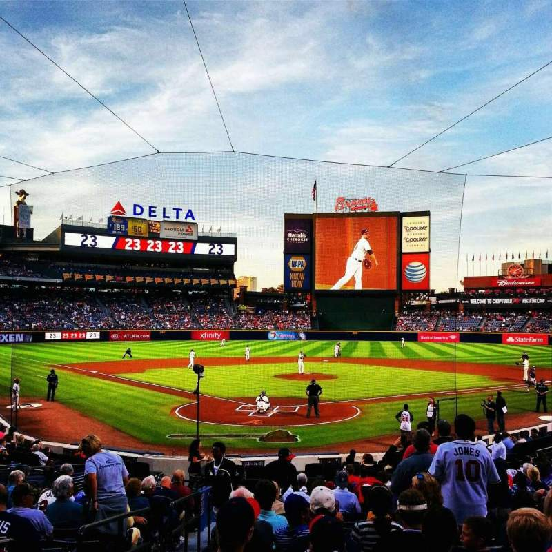 Seating view for Turner Field Section 101R Row 19 Seat 2