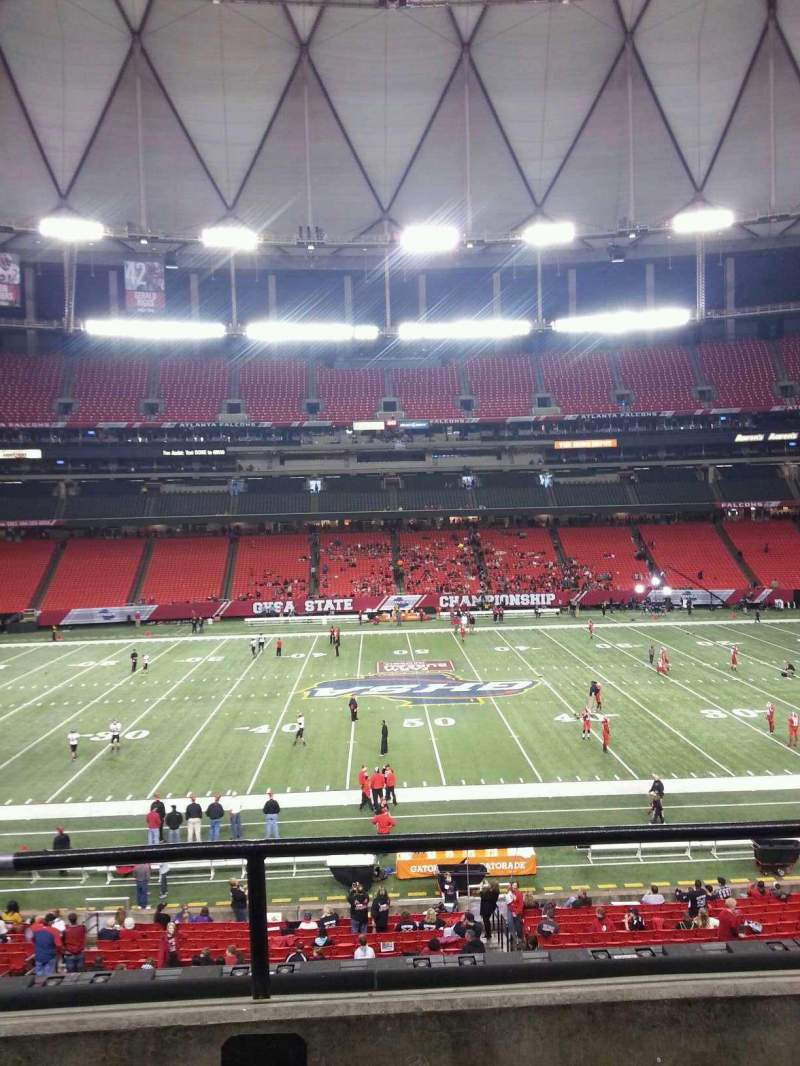 Seating view for Georgia Dome Section 247 Row 2 Seat 16
