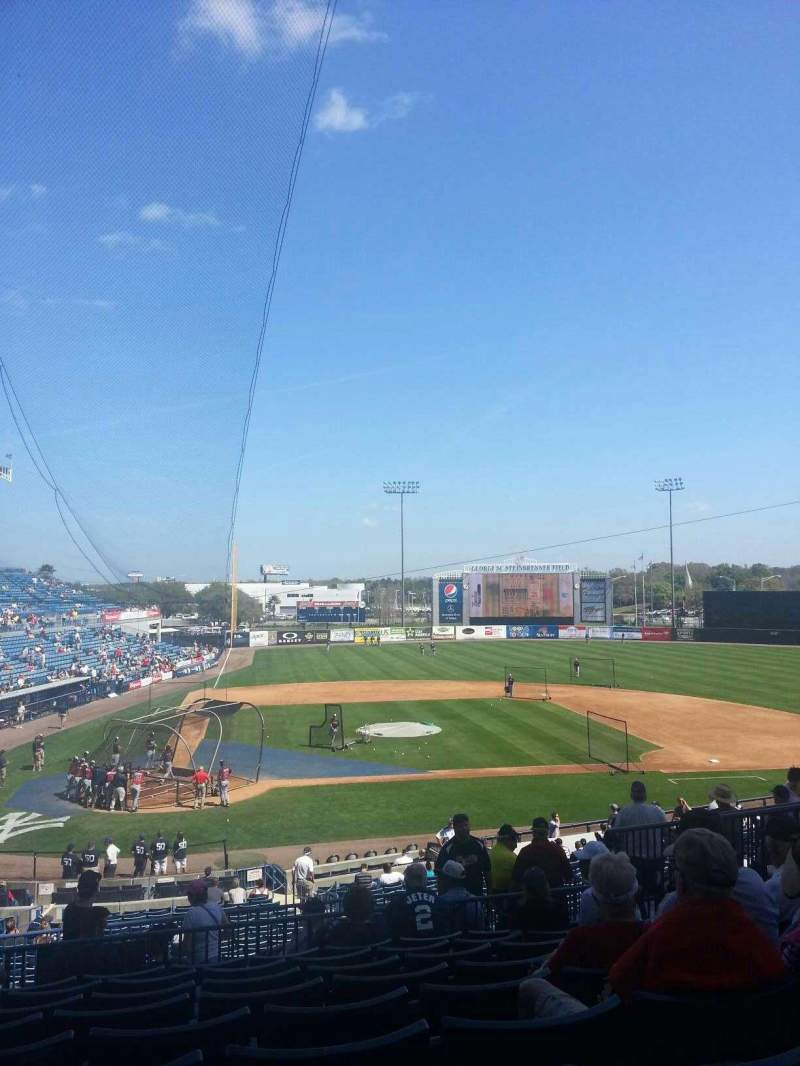 Seating view for George M. Steinbrenner Field Section 208 Row I Seat 9