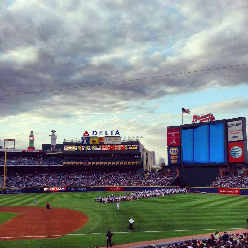 Seating view for Turner Field Section 217 Row 1 Seat 6