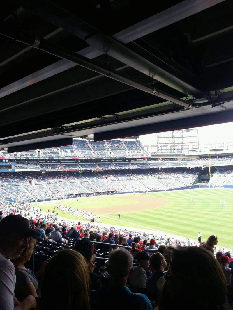 Seating view for Turner Field Section 225R Row 16 Seat 7
