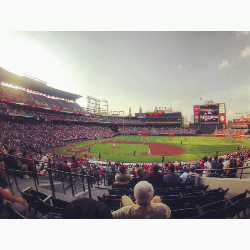 Seating view for Turner Field Section 211R Row 6 Seat 4