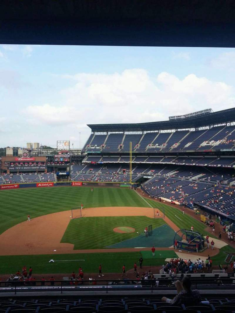Seating view for Turner Field Section 312R Row 9 Seat 8