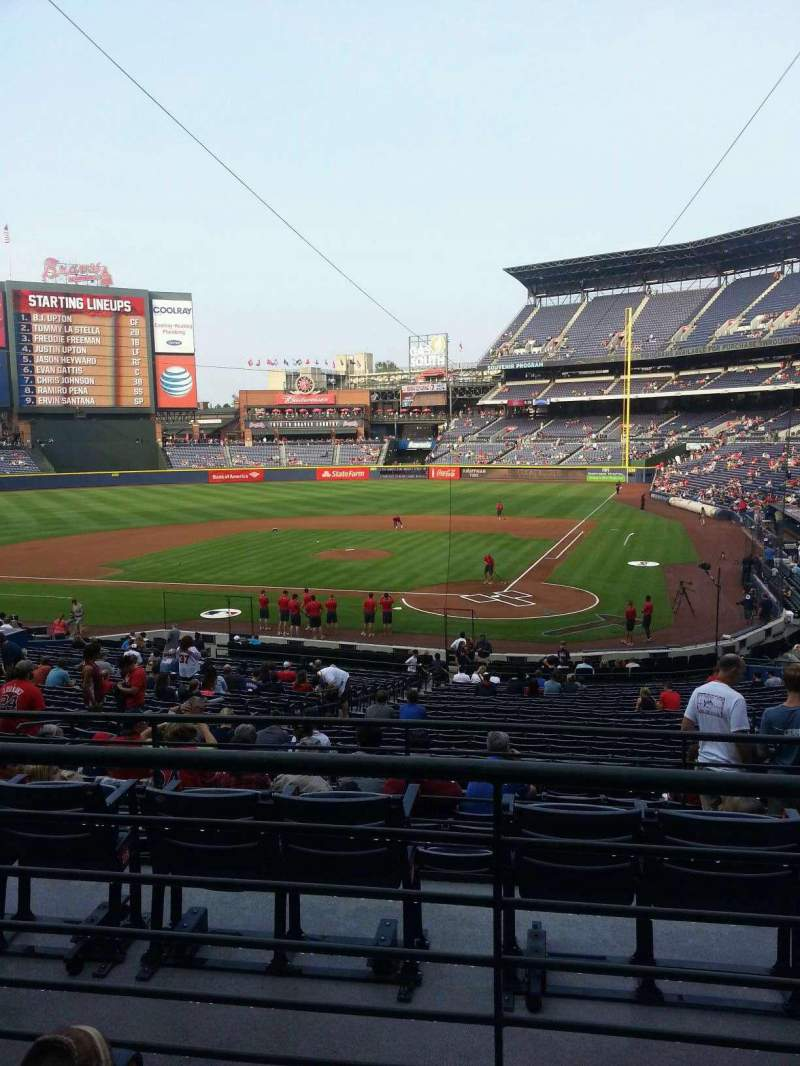 Seating view for Turner Field Section 206R Row 2 Seat 9