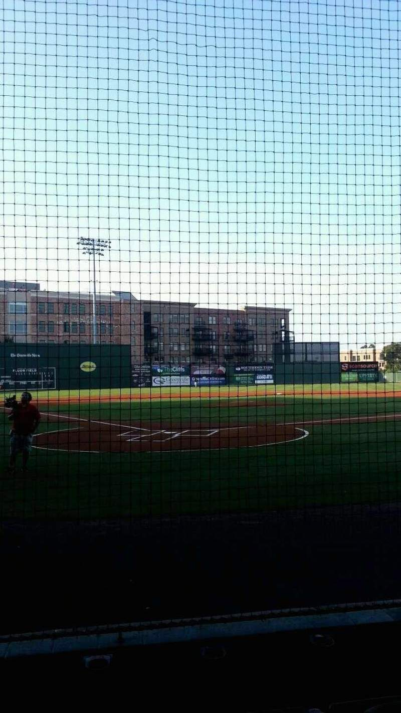 Seating view for Fluor Field Section 109 Row E Seat 13
