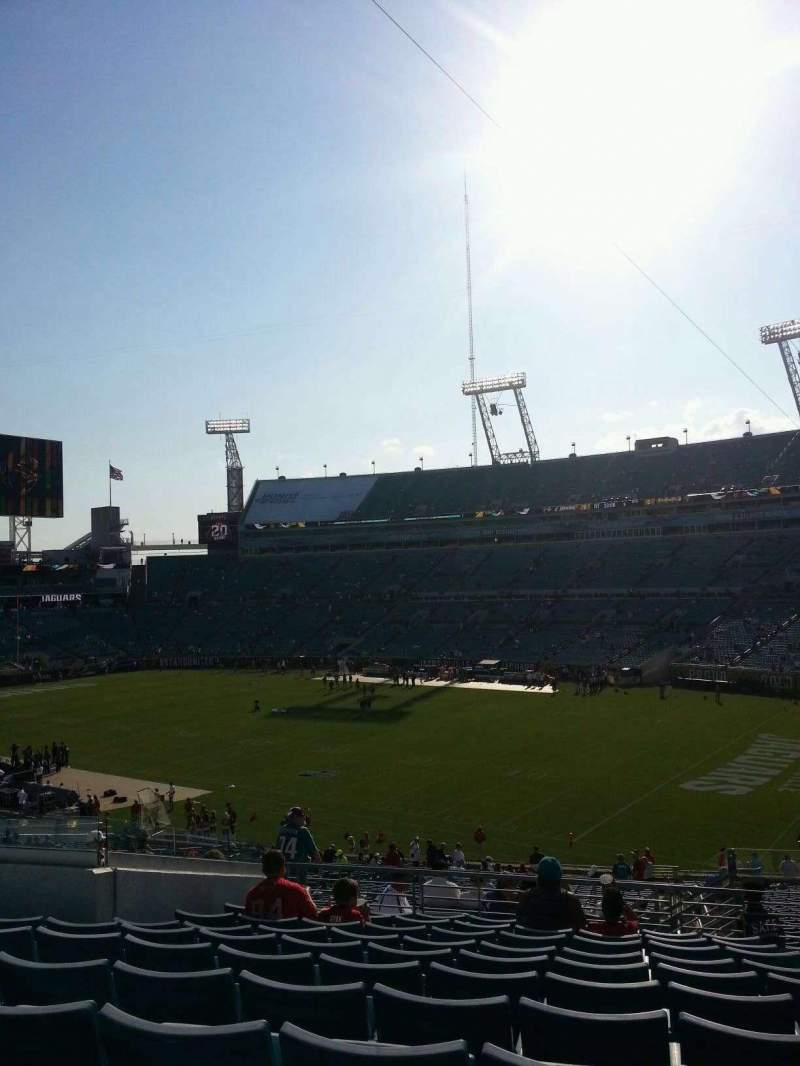Seating view for EverBank Field Section 231 Row M Seat 3