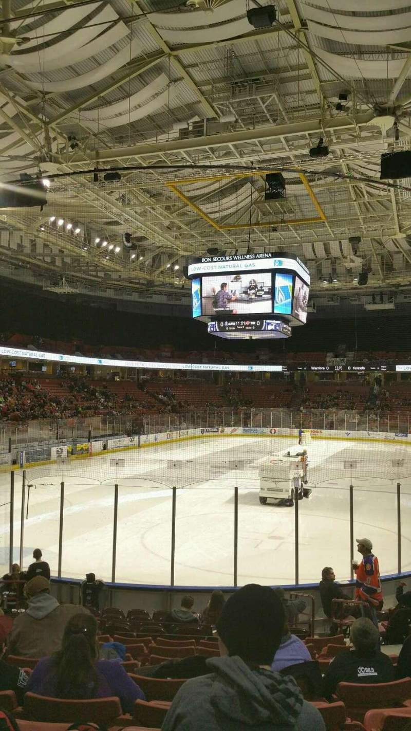 Seating view for Bon Secours Wellness Arena Section 109 Row K Seat 6