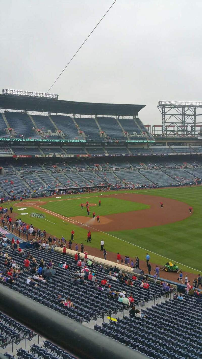Seating view for Turner Field Section 321R Row 1 Seat 2