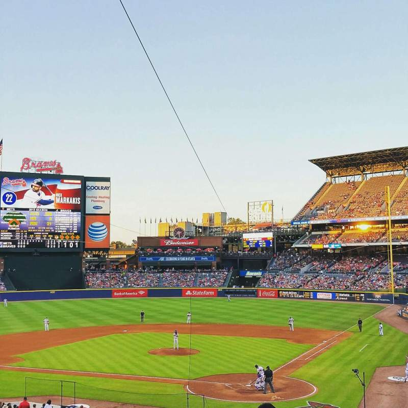 Seating view for Turner Field Section 204 Row 10 Seat 102