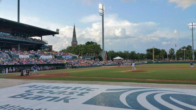 Seating view for Baseball Grounds of Jacksonville Section 113 Row F Seat 4