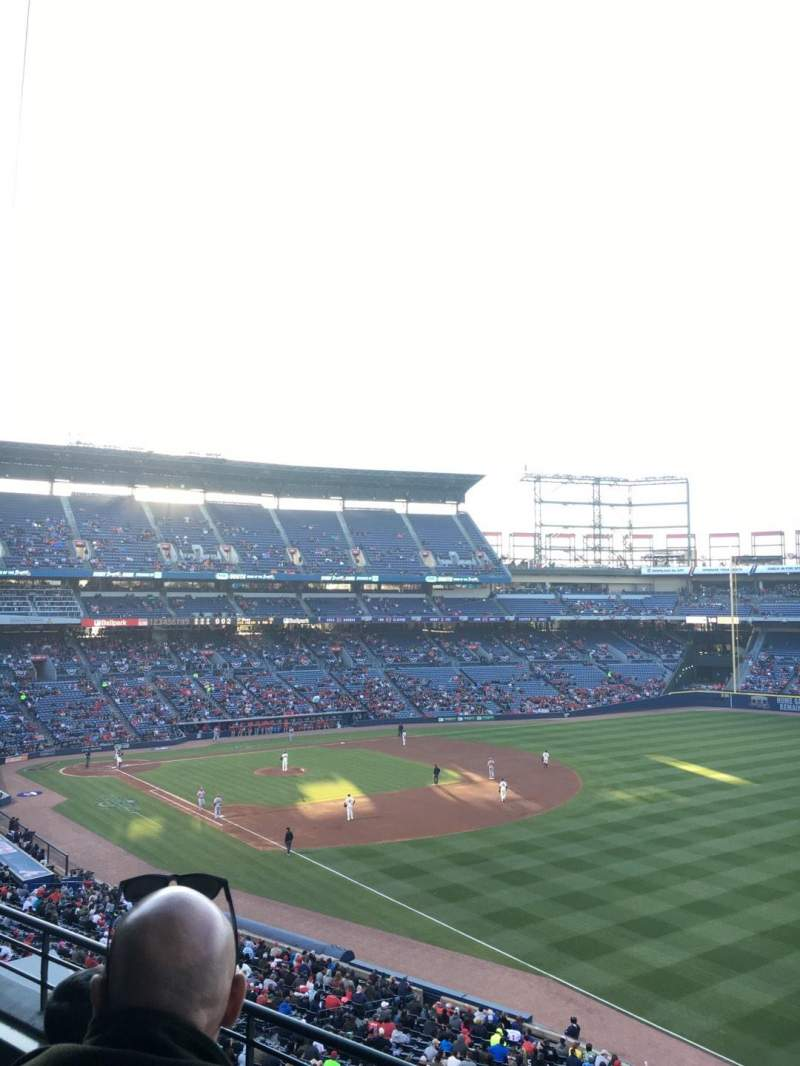 Seating view for Turner Field Section 323L Row 3 Seat 103