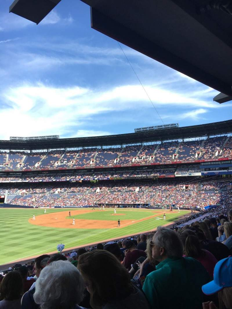 Seating view for Turner Field Section 226R Row 10 Seat 3