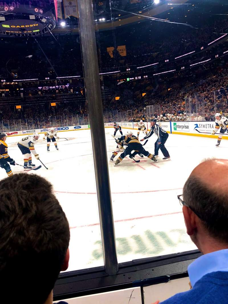 Seating view for TD Garden Section LOGE 6 Row 2 Seat 10